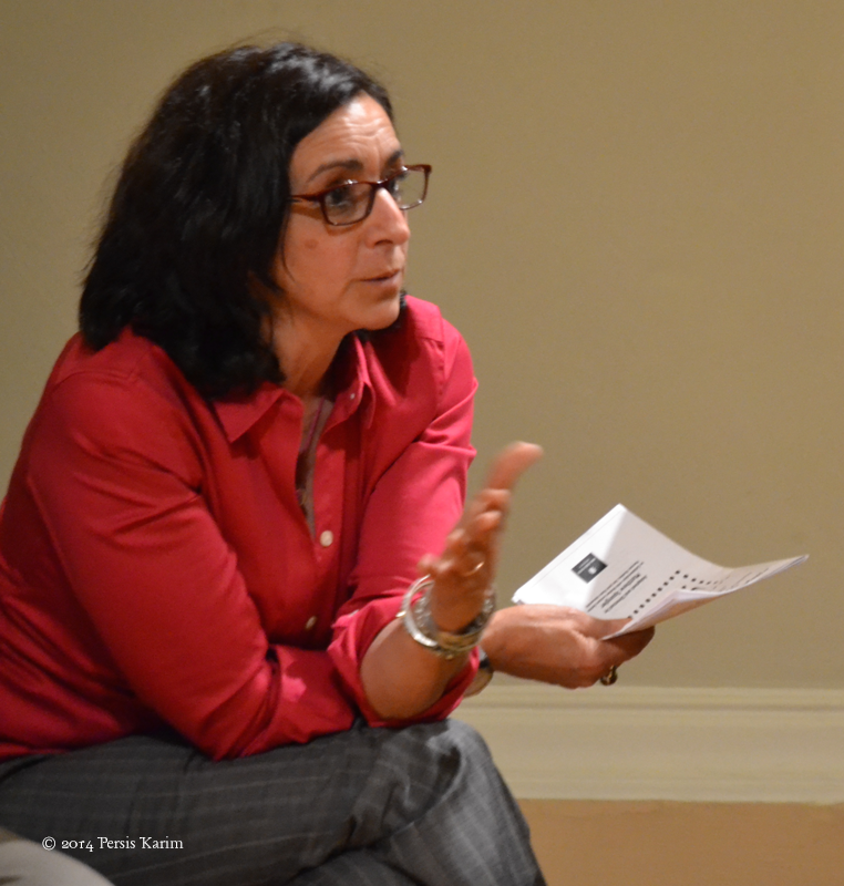 "Persis Karim at ""Cultures of the Iranian Diaspora Conference"" at SJSU, April 2014"