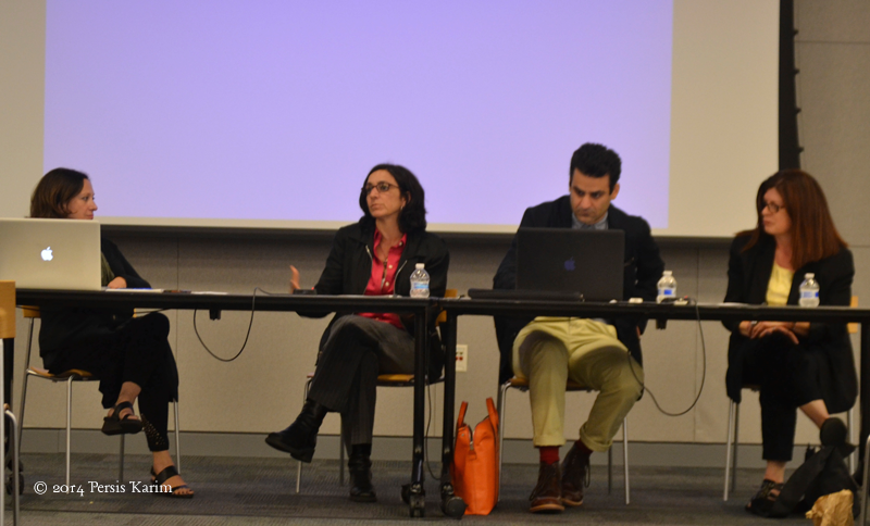 "Persis Karim with Arash Saedinia at San Jose State University, ""Cultures of the Iranian Diaspora"" conference"