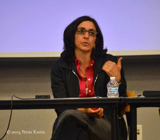 Persis Karim speaking at Cultures of the Iranian Diaspora Conference, April 2014, San Jose State University