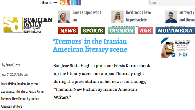 Spartan Daily Review of 'Tremors'