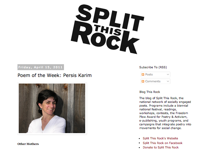 """Other Mothers""--Split this Rock (Blog-Poem of the Week)"